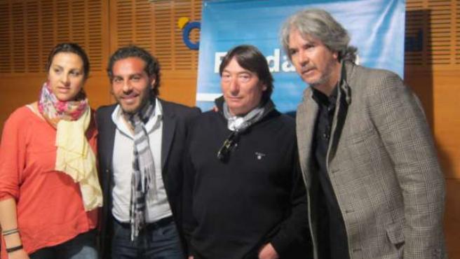 Los artistas Jara Heredia, El Granaíno, El Parrón y Miguel Ángel Cortés