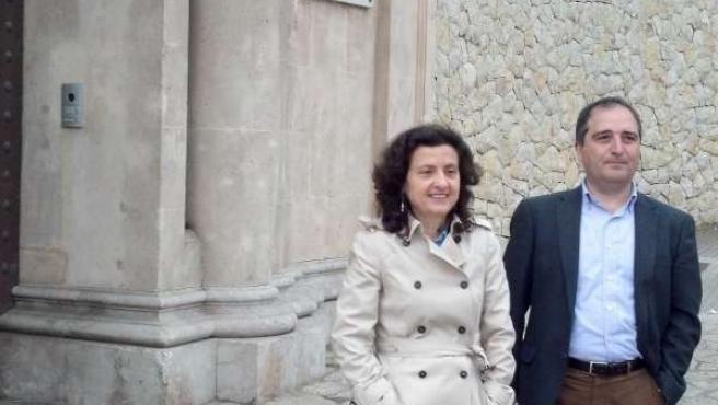 Fina Santiago y Antoni Alorda en el Palacio de Marivent