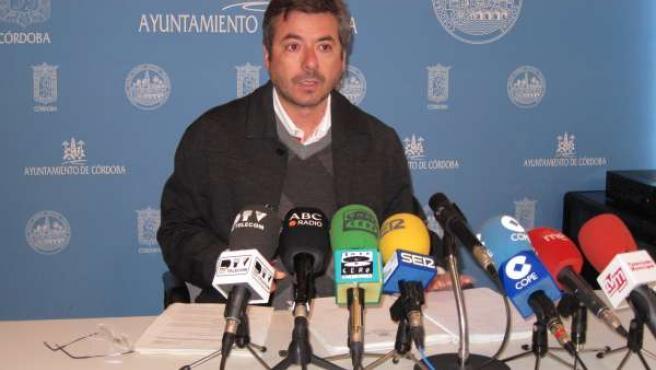 Miguel Ángel Torrico en rueda de prensa