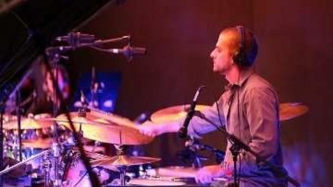 El percusionista Fernando García.