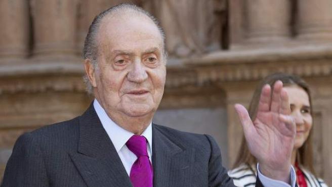 El rey Juan Carlos, en una imagen de la pasada Semana Santa en Mallorca.