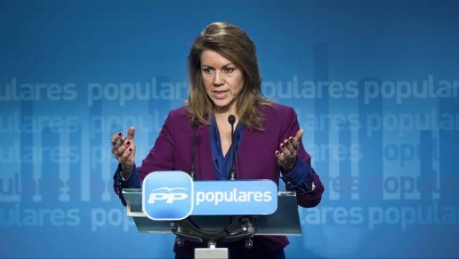 La secretaria general del PP, María Dolores de Cospedal.