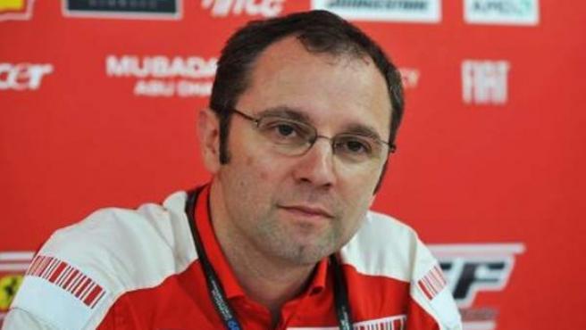 Stefano Domenicali, jefe deportivo de Ferrari.