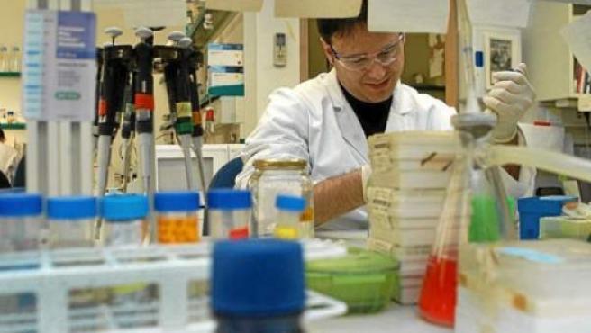 Un investigador trabaja en su laboratorio.
