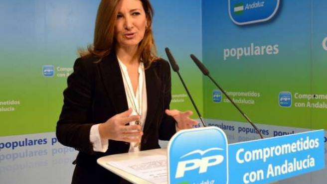 Alicia Martínez (PP-A) en rueda de prensa