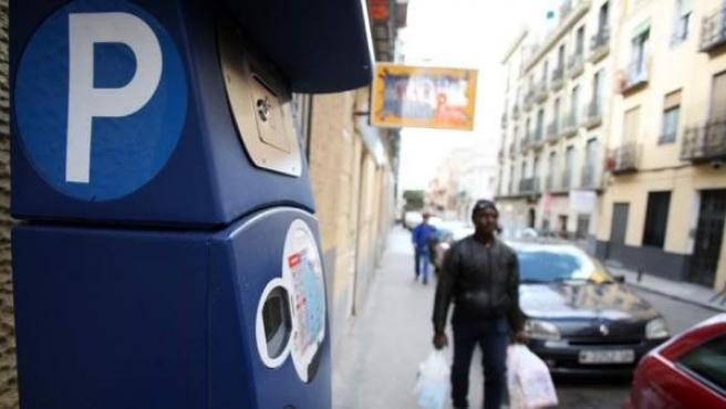 Imagen de un parquímetro en Madrid.