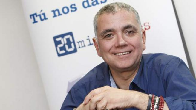 Juan Ramón Lucas, en la redacción de 20minutos.