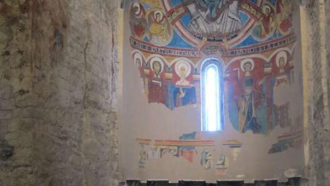 Presentación de una proyección para reemplazar pinturas de Sant Climent de Taüll