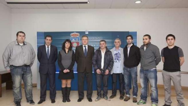 Recepción a equipo representante de CC.AA en Certamen Gastronomía de Valladolid