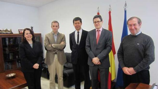 De I-D: Pérez, Arrosagary, Duffau-Bernadac, Iribas y Daziniere.