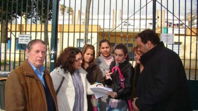 Eva Patricia Bueno visita el centro infantil Santa Catalina de Sevilla