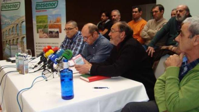 Representantes de Mesenor y UCCL, en Segovia