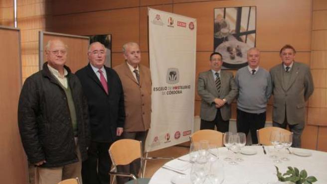 Representantes de la Escuela de Hostelería de Córdoba