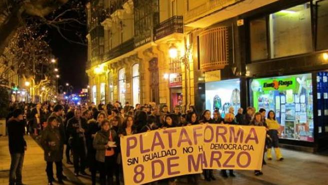 Manifestación para conmemorar el Día Internacional de la Mujer