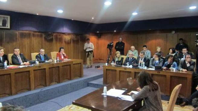 Pleno donde se ha aprobado la moción de censura en Ponferrada