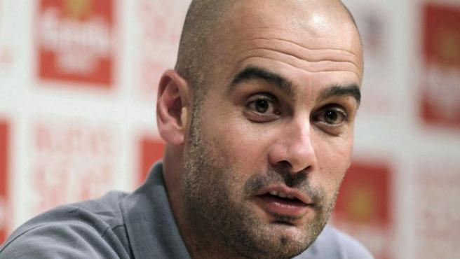 Pepe Guardiola, en rueda de prensa.