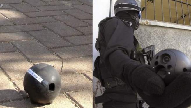 El 'Eyeball', una 'bola con ojos' hecha para la lucha antiterrorista.