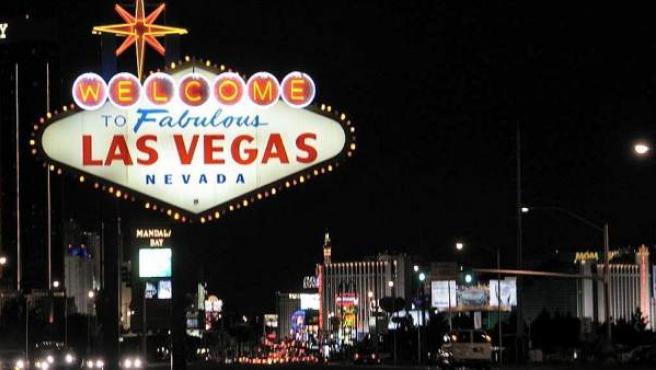 El famoso cartel que la la bienvenida a Las Vegas.