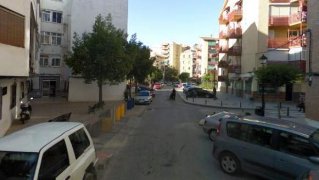 Imagen de la calle Valladolid, en Fuengirola (Málaga), donde ha ocurrido el suceso.