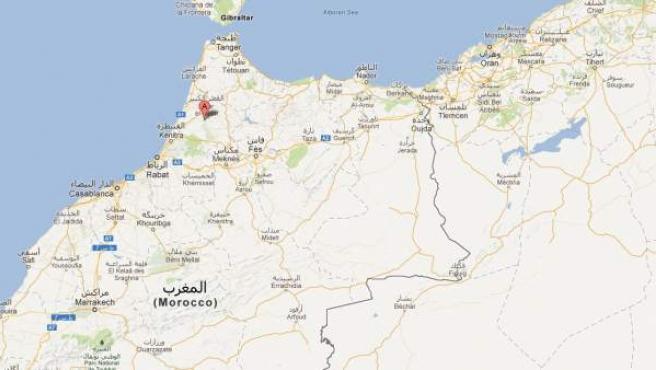 Situación de la ciudad marroquí de Mechra Bel Ksiri.