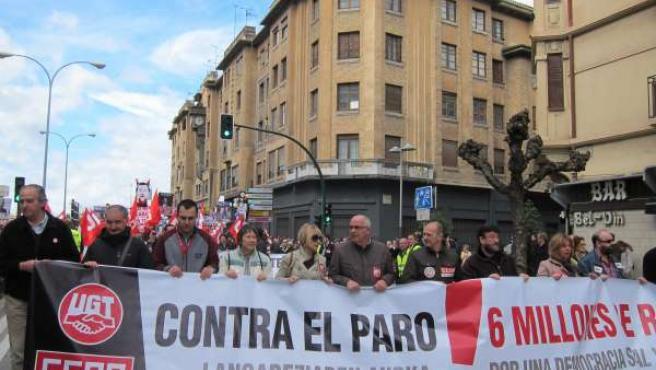 Manifestación de la Cumbre Social sobre el paro.