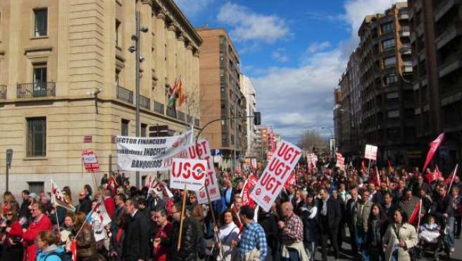 Manifestación contra el paro
