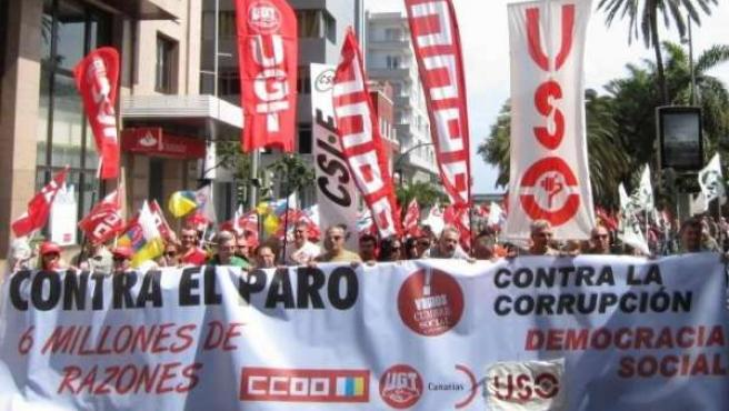 Manifestación en Las Palmas de Gran Canaria