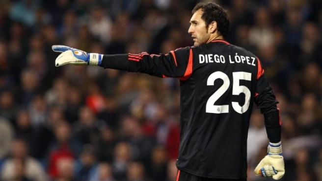Diego López, en acción.