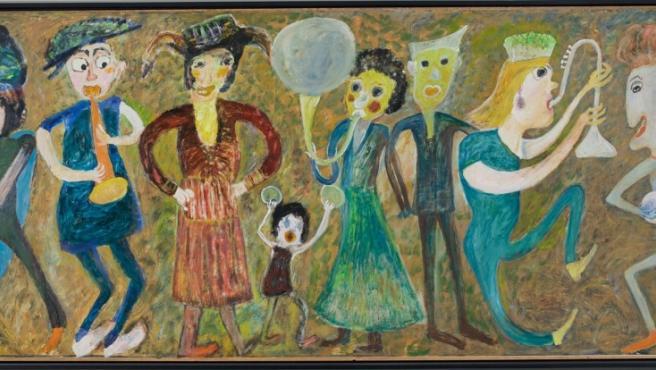 Pintura de Jon Serl incluida en la exposición