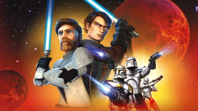 Imagen promocional de la serie 'The Clone Wars'.