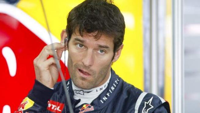 El piloto de Red Bull, Mark Webber, durante el Gran Premio de Corea.