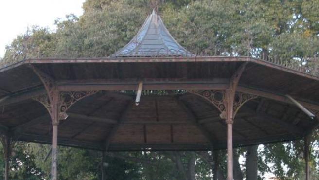 Detalle de la Glorieta del Parque de la Ciutadella.