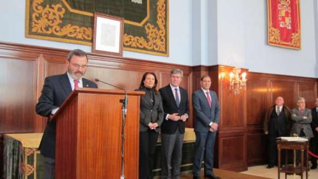 El subdelegado del Gobierno junto a Crespo, Fernández de Moya y Mesa García hoy