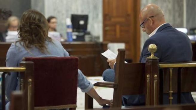 Fernando Torres Baena, el principal imputado en el conocido como caso 'Kárate', durante una de las sesiones del juicio.