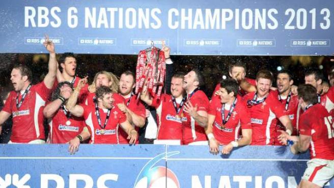 Gales, campeona del VI Naciones 2013.