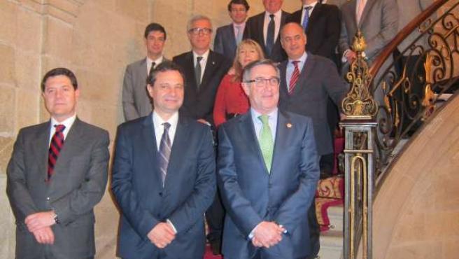 Alcaldes de las Ciudades Patrimonio tras su Asamblea en Santiago
