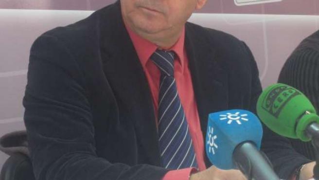 Diego Valderas, en Huelva.