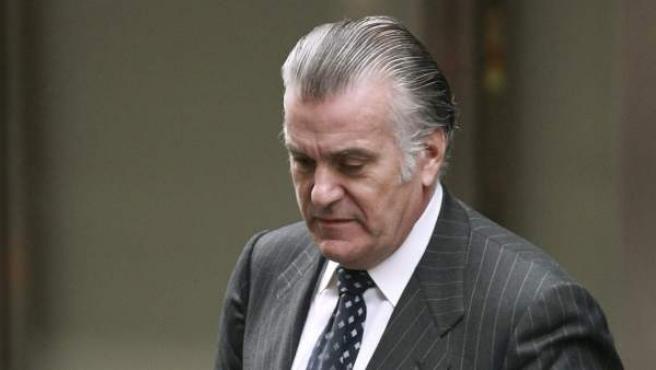 El extesorero del PP Luis Bárcenas, a la salida de la Audiencia Nacional.