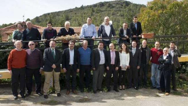 Moliner junto a alcaldes y portavoces de la comarca de Segorbe