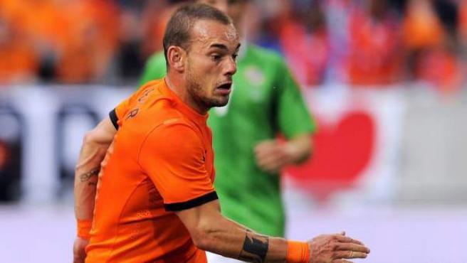 El centrocampista holandés, Wesley Sneijder.