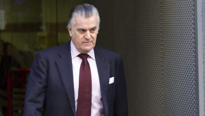 Luis Bárcenas, a la salida de la Audiencia Nacional.