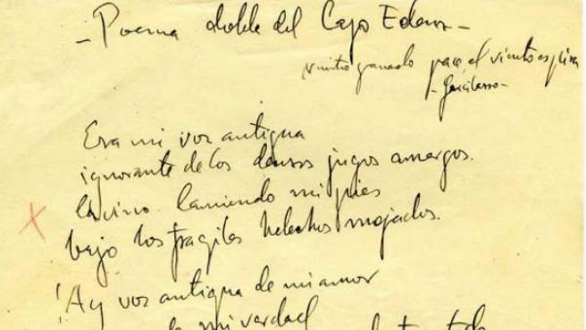 Publican El Manuscrito Original De Poeta En Nueva York