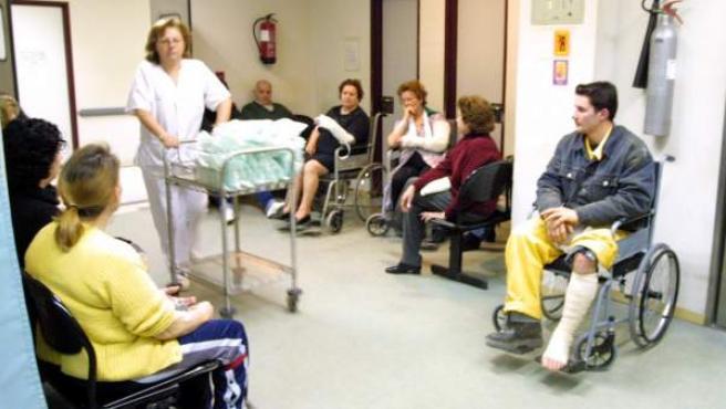 Sala de espera del hospital Doce de Octubre.