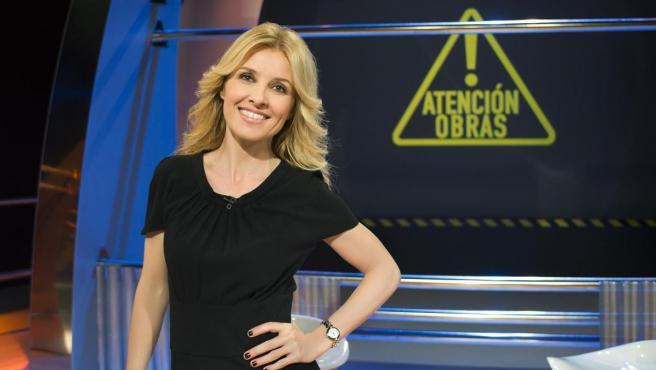 Cayetana Guillén Cuervo posa en el plató de '¡Atención obras!'.