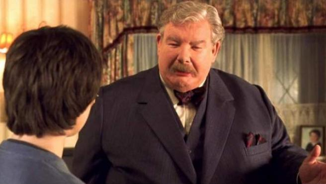 El actor británico Richard Griffiths, en una escena de una de las cintas de la saga de Harry Potter.