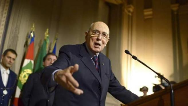 El presidente de la República italiana, Giorgio Napolitano.
