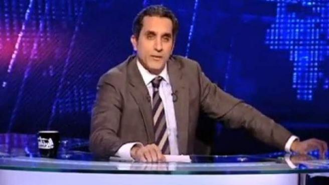 El presentador de televisión, Bassem Youssef.