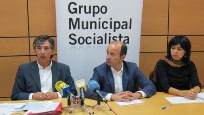 Juan Patricio Castro, Pedro López y Andrea Garries