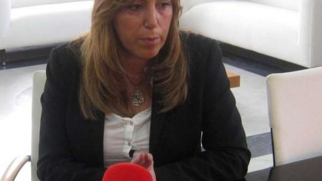 Susana Díaz, durante la entrevista