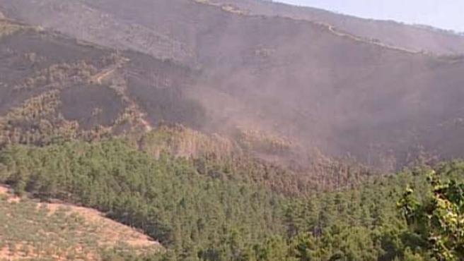 Incendio Las Hurdes julio 2012